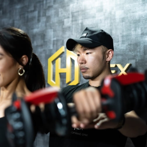 Body make gym HEX (ヘクス)にて実績豊富なトレーナー陣によるパーソナルトレーニング